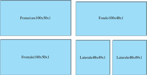 Dimensioni dei 5 vetri utili a costruire un'acquario