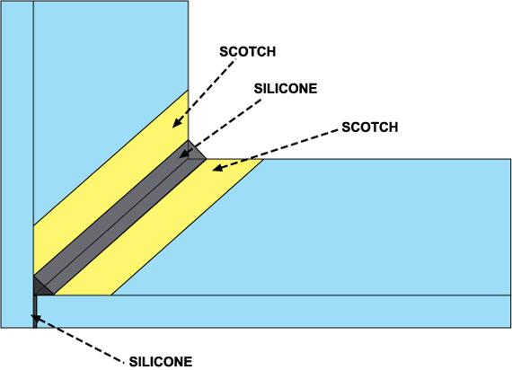 Come mettere il silicone e lo scotch sui vetri dell'acquario