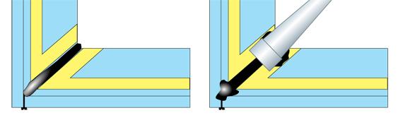 Rifinitura delle lastre col silicone